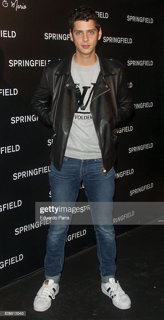 Actor Eduardo Casanova attends the Springfield fashion film presentation photocall at Fortuny palace on May 05, 2016 in Madrid, Spain.