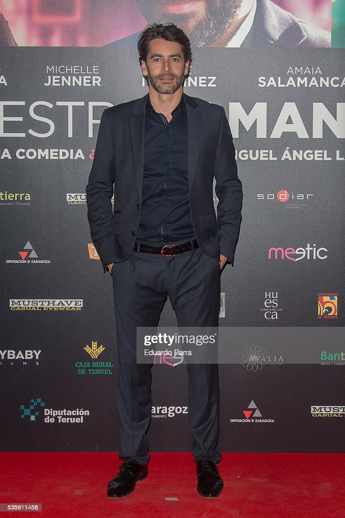 Actor <a gi-track='captionPersonalityLinkClicked' href=/galleries/search?phrase=Eduardo+Noriega&family=editorial&specificpeople=790357 ng-click='$event.stopPropagation()'>Eduardo Noriega</a> attends the 'Nuestros Amantes' premiere at Palafox cinema on May 30, 2016 in Madrid, Spain.
