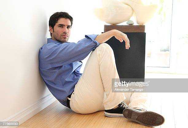 Actor Eduardo Verastegui lead actor in the movie 'Bella' poses during a portrait session on October 30 2007 in Key Biscayne Florida