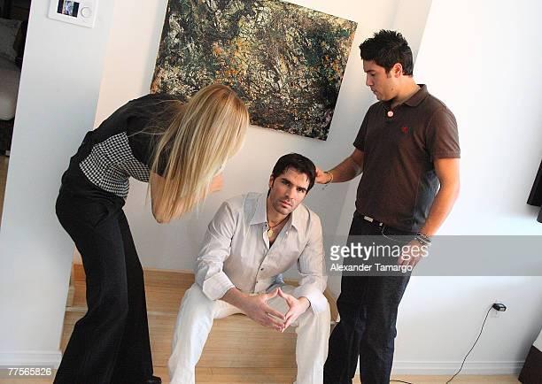 Actor Eduardo Verastegui lead actor in the movie 'Bella' prepares for a portrait session on October 30 2007 in Key Biscayne Florida