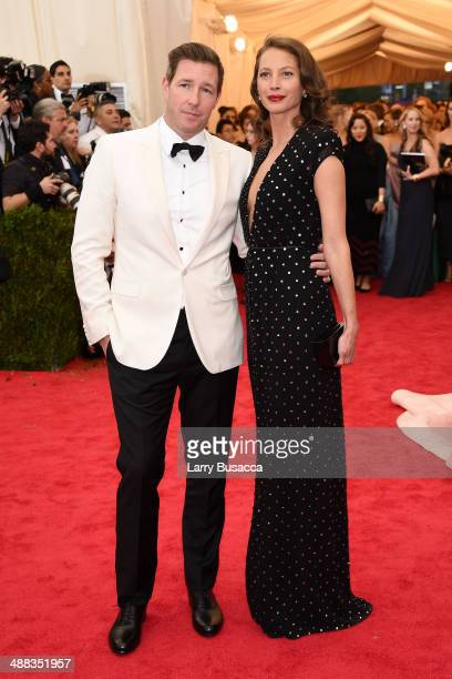 Actor Edward Burns and model Christy Turlington Burns attend the 'Charles James Beyond Fashion' Costume Institute Gala at the Metropolitan Museum of...