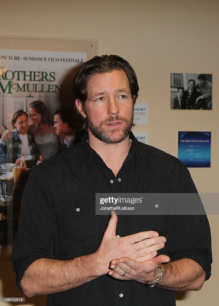Actor <a gi-track='captionPersonalityLinkClicked' href=/galleries/search?phrase=Edward+Burns&family=editorial&specificpeople=223896 ng-click='$event.stopPropagation()'>Edward Burns</a> attends the Chase Sapphire VIP Event at Chase Sapphire during the 2013 Sundance Film Festival on January 18, 2013 in Park City, Utah.
