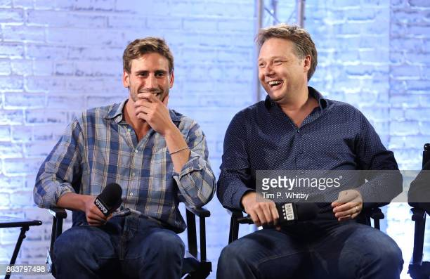 Actor Edward Holcroft and Shaun Dooley from BBC Drama 'Gunpowder' during a panel discussion at BUILD London on October 20 2017 in London England