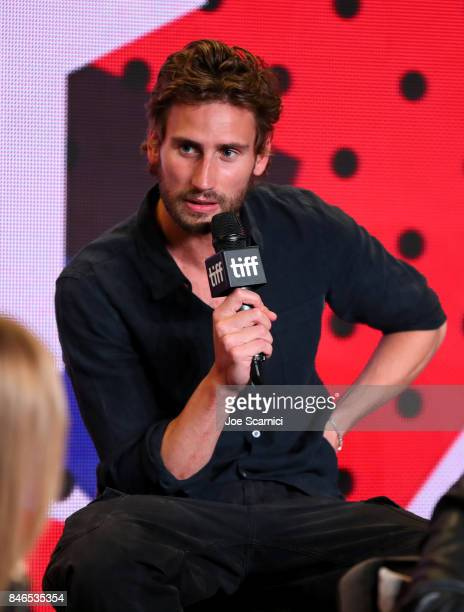 Actor Edward Holcroft speaks onstage at 'Alias Grace' Press Conference during the 2017 Toronto International Film Festival at TIFF Bell Lightbox on...