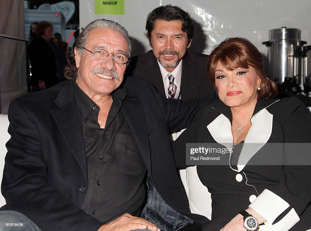 Actor Edward James Olmos, actor Lou Diamond Phillips and singer Connie Francis attend the Homeward Bound Telethon at American Legion Hall on November 10, 2013 in Los Angeles, California.