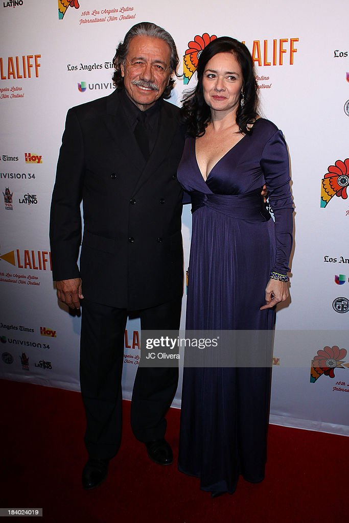 Actor <a gi-track='captionPersonalityLinkClicked' href=/galleries/search?phrase=Edward+James+Olmos&family=editorial&specificpeople=213817 ng-click='$event.stopPropagation()'>Edward James Olmos</a> (L) and LALIFF Co-Founder Marlene Dermer attend The 2013 Los Angeles Latino International Film Festival - Opening Night Gala Premiere of 'Pablo' at the El Capitan Theatre on October 10, 2013 in Hollywood, California.