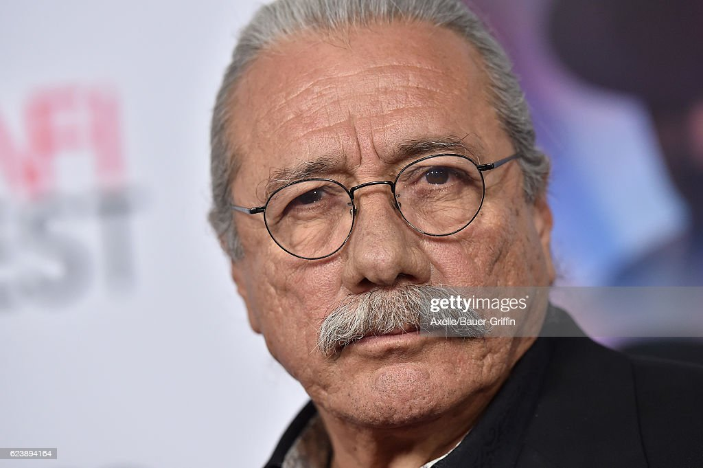 Actor Edward James Olmos arrives at AFI FEST 2016 Presented by Audi - Opening Night - Premiere of 20th Century Fox's 'Rules Don't Apply' at TCL Chinese Theatre on November 10, 2016 in Hollywood, California.