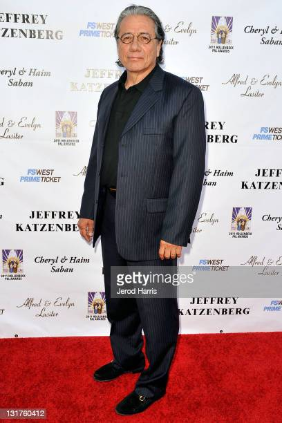 Actor Edward James Olmos arrives at the LAPD Hollenbeck PAL Gala 2011 on May 12 2011 in Los Angeles California