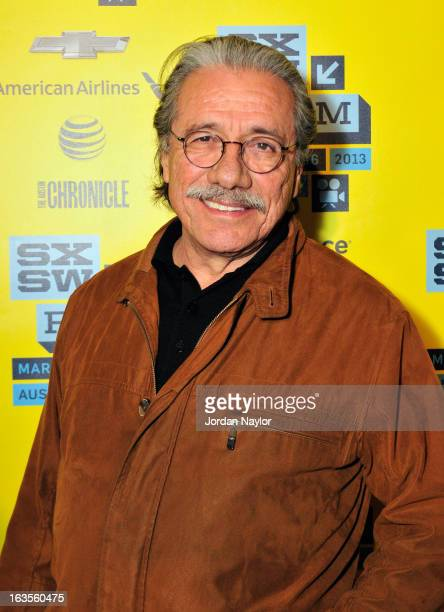 Actor Edward James Olmos arrives at the screening of 'Go For Sisters' during the 2013 SXSW Music Film Interactive Festival at Stateside Theater on...