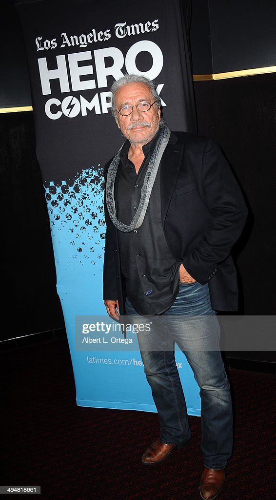 Actor Edward James Olmos arrives for the 5th Annual Hero Complex Film Festival - 'Battlestar Galactica' Screening and Q&A held at the TCL Chinese Theater on May 30, 2014 in Hollywood, California.
