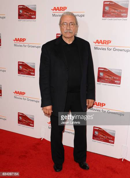 Actor Edward James Olmos attends AARP's 16th annual Movies For Grownups Awards at the Beverly Wilshire Four Seasons Hotel on February 6 2017 in...