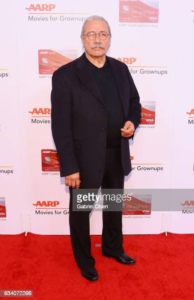 Actor Edward James Olmos attends the 16th Annual AARP The Magazine's Movies For Grownups Awards at the Beverly Wilshire Four Seasons Hotel on...