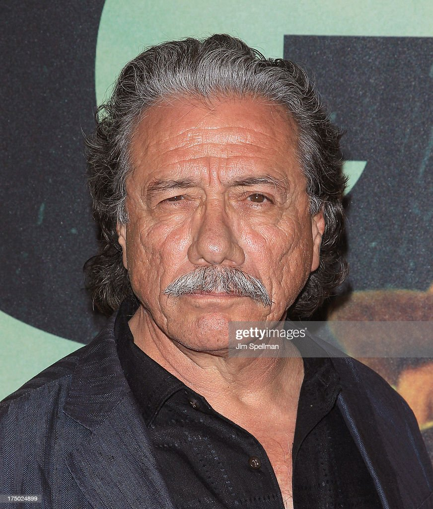 Actor <a gi-track='captionPersonalityLinkClicked' href=/galleries/search?phrase=Edward+James+Olmos&family=editorial&specificpeople=213817 ng-click='$event.stopPropagation()'>Edward James Olmos</a> attends the '2 Guns' New York Premiere at SVA Theater on July 29, 2013 in New York City.