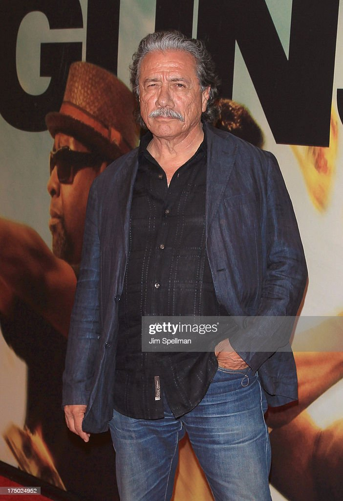Actor Edward James Olmos attends the '2 Guns' New York Premiere at SVA Theater on July 29, 2013 in New York City.