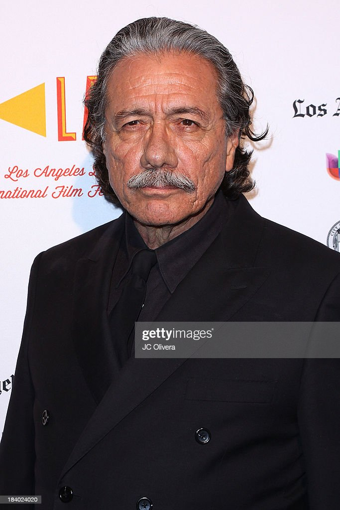 Actor <a gi-track='captionPersonalityLinkClicked' href=/galleries/search?phrase=Edward+James+Olmos&family=editorial&specificpeople=213817 ng-click='$event.stopPropagation()'>Edward James Olmos</a> attends The 2013 Los Angeles Latino International Film Festival - Opening Night Gala Premiere of 'Pablo' at the El Capitan Theatre on October 10, 2013 in Hollywood, California.