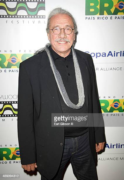 Actor Edward James Olmos attends the 6th Annual Hollywood Brazilian Film Festival Opening Night Gala Premiere of 'A Wolf Behind The Door' at The...
