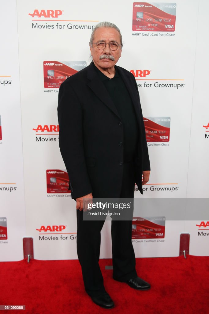 Actor Edward James Olmos attends the AARP's 16th Annual Movies for Grownups Awards at the Beverly Wilshire Four Seasons Hotel on February 6, 2017 in Beverly Hills, California.