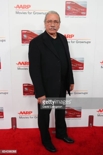 Actor Edward James Olmos attends the AARP's 16th Annual Movies for Grownups Awards at the Beverly Wilshire Four Seasons Hotel on February 6 2017 in...