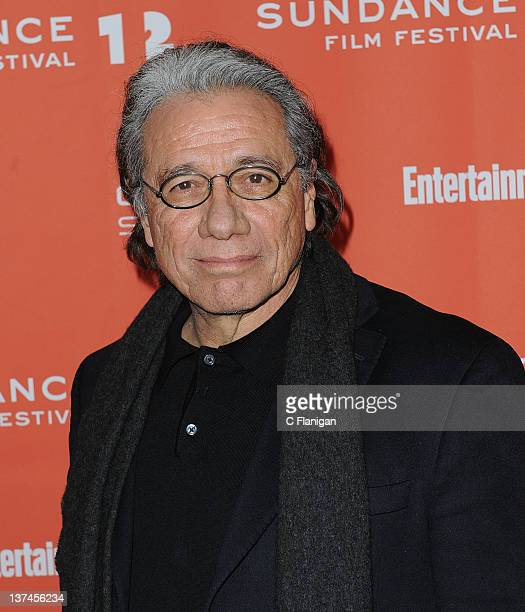 Actor Edward James Olmos attends the 'Filly Brown' premiere held at the Library Center Theatre during the 2012 Sundance Film Festival on January 20...