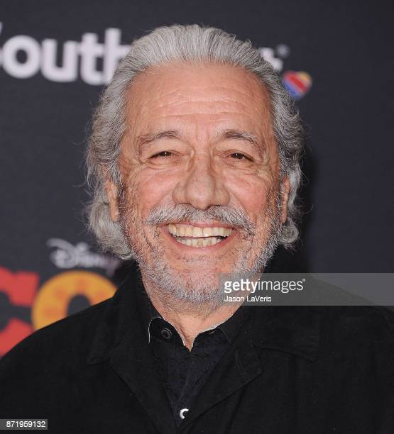 Actor Edward James Olmos attends the premiere of 'Coco' at El Capitan Theatre on November 8 2017 in Los Angeles California