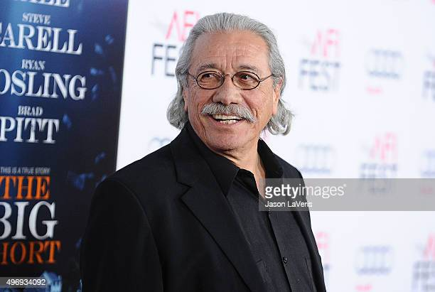 Actor Edward James Olmos attends the premire of 'The Big Short' at the 2015 AFI Fest at TCL Chinese 6 Theatres on November 12 2015 in Hollywood...
