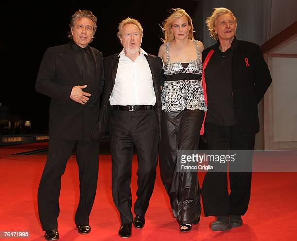 Actor Edward James Olmos Director Ridley Scott and actors Daryl Hannah and Rutger Hauer attend the Blade Runner premiere in Venice during day 4 of...