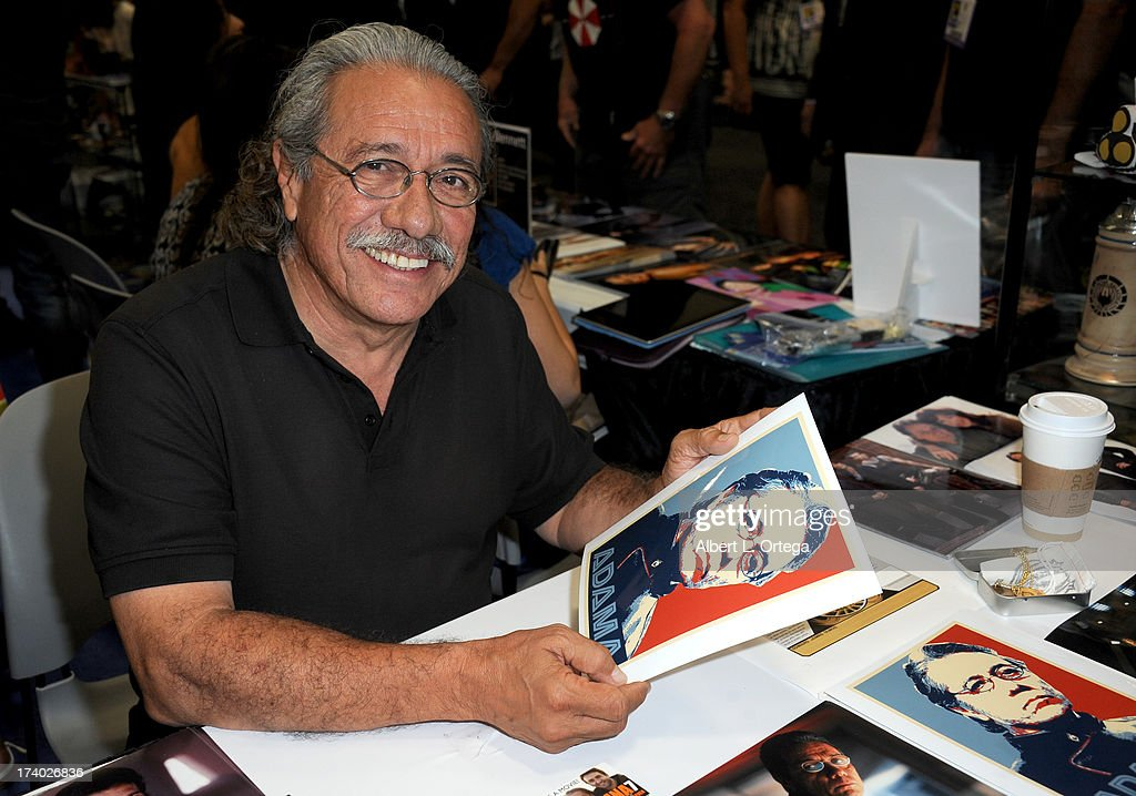 Actor <a gi-track='captionPersonalityLinkClicked' href=/galleries/search?phrase=Edward+James+Olmos&family=editorial&specificpeople=213817 ng-click='$event.stopPropagation()'>Edward James Olmos</a> during Comic-Con International at San Diego Convention Center on July 19, 2013 in San Diego, California.