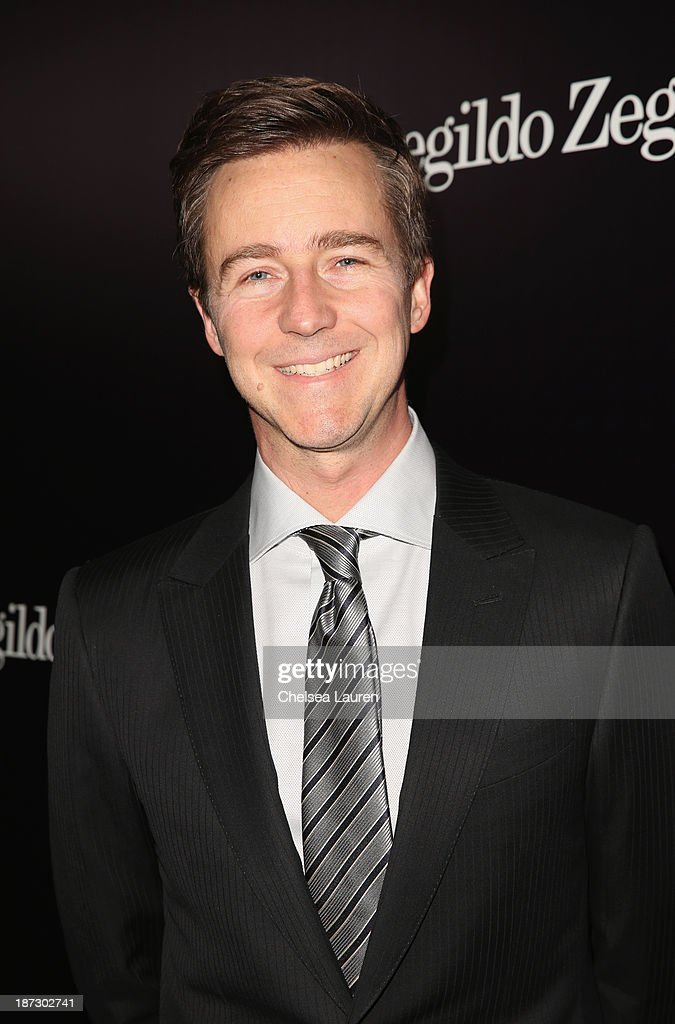 Actor <a gi-track='captionPersonalityLinkClicked' href=/galleries/search?phrase=Edward+Norton&family=editorial&specificpeople=210580 ng-click='$event.stopPropagation()'>Edward Norton</a> attends Ermenegildo Zegna Global Store Opening hosted by Gildo Zegna and Stefano Pilati at Ermenegildo Zegna Boutique on November 7, 2013 in Beverly Hills, California.