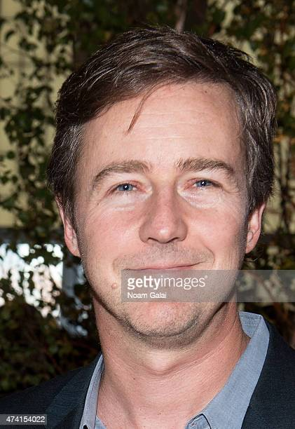 Actor Edward Norton attends the 2015 High Line Spring Benefit at Pier 36 on May 20 2015 in New York City