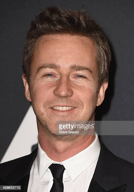 Actor Edward Norton attends the Academy Of Motion Picture Arts And Sciences' 2014 Governors Awards at The Ray Dolby Ballroom at Hollywood Highland...