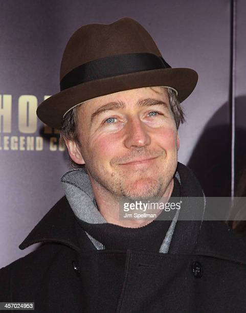 Actor Edward Norton attends the 'Anchorman 2 The Legend Continues' US premiere at Beacon Theatre on December 15 2013 in New York City