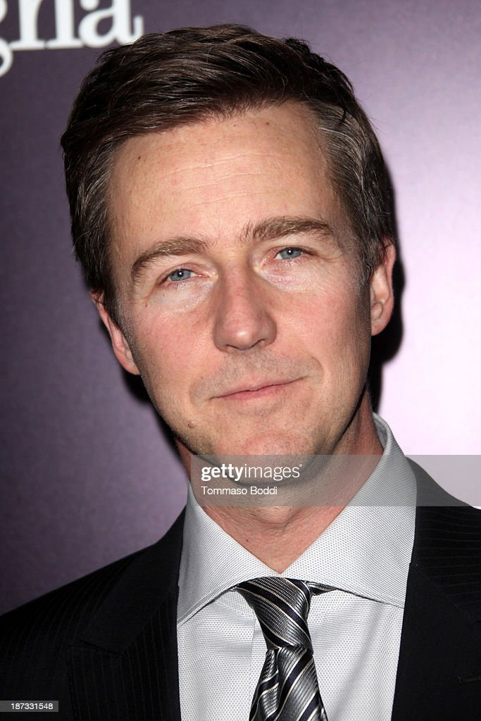 Actor <a gi-track='captionPersonalityLinkClicked' href=/galleries/search?phrase=Edward+Norton&family=editorial&specificpeople=210580 ng-click='$event.stopPropagation()'>Edward Norton</a> attends the Ermenegildo Zegna boutique Rodeo Drive grand opening held at Ermenegildo Zegna Boutique on November 7, 2013 in Beverly Hills, California.