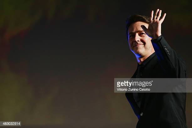 Actor Edward Norton attends the Moet Chandon Excellence Award ceremony on August 5 2015 in Locarno Switzerland