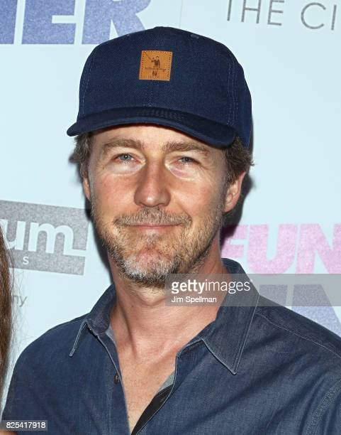 Actor Edward Norton attends the screening of 'Fun Mom Dinner' hosted by Momentum Pictures with The Cinema Society and SVEDKA at Landmark Sunshine...