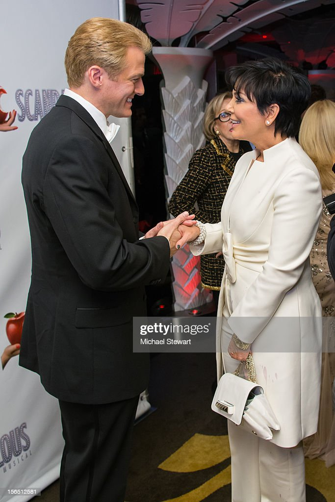 Actor Edward Watts (L) and tv personality <a gi-track='captionPersonalityLinkClicked' href=/galleries/search?phrase=Kris+Jenner&family=editorial&specificpeople=762610 ng-click='$event.stopPropagation()'>Kris Jenner</a> attend the 'Scandalous' Broadway Opening Night after party at Copacabana on November 15, 2012 in New York City.