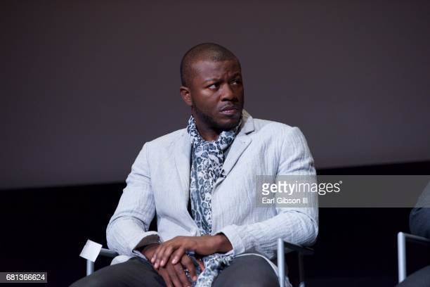 Actor Edwin Hodge speaks onstage at the FYC Event for HISTORY's 'SIX' at Wolf Theatre on May 9 2017 in North Hollywood California