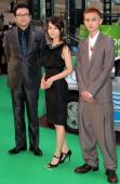 Actor Eiichiro Funakoshi actress Maki Horikita and actor Kengo Kora attend the 23rd Tokyo International Film Festival Opening Ceremony at Roppongi...