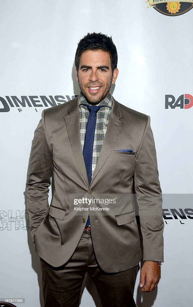 Actor Eli Roth arrives for the Aftershock premiere at Mann Chinese 6 on May 1, 2013 in Los Angeles, California.