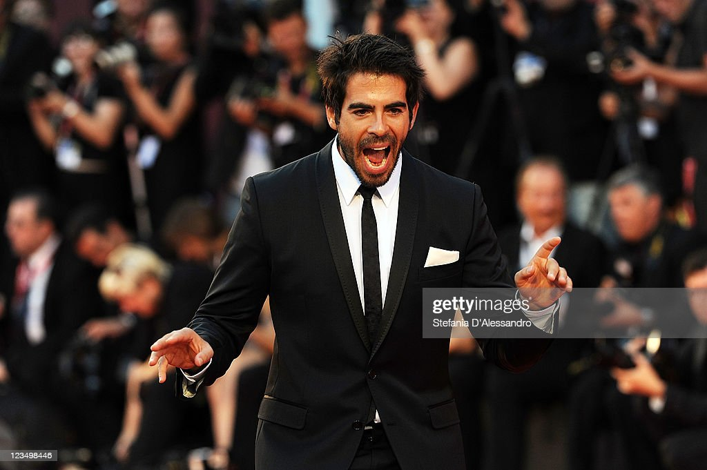 Actor <a gi-track='captionPersonalityLinkClicked' href=/galleries/search?phrase=Eli+Roth&family=editorial&specificpeople=543948 ng-click='$event.stopPropagation()'>Eli Roth</a> attends 'Contagion' Premiere at Palazzo del Cinema on September 3, 2011 in Venice, Italy.