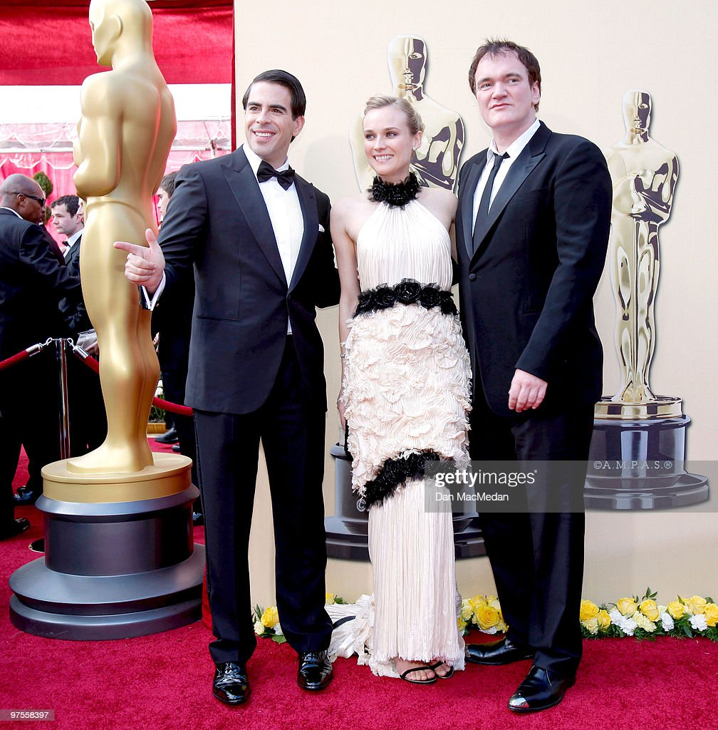 Actor Eli Roth (L), director Quentin Tarantino (R) and actress Diane Kruger attend the 82nd Annual Academy Awards held at the Kodak Theater on March 7, 2010 in Hollywood, California.