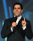 Actor Eli Roth speaks onstage during Spike TV's 'Scream 2010' at The Greek Theatre on October 16 2010 in Los Angeles California