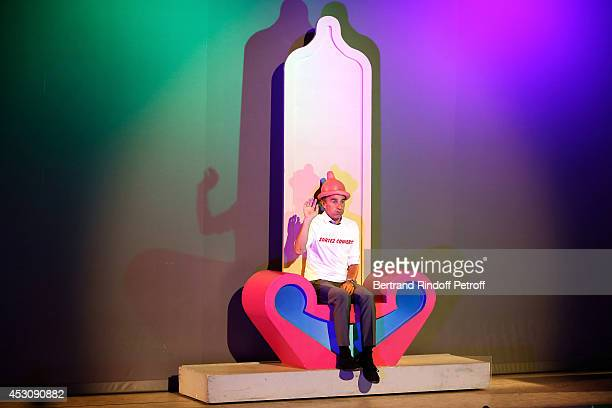 Actor Elie Semoun performs in 'Le placard' play at the 30th Ramatuelle Festival Day 2 on August 2 2014 in Ramatuelle France