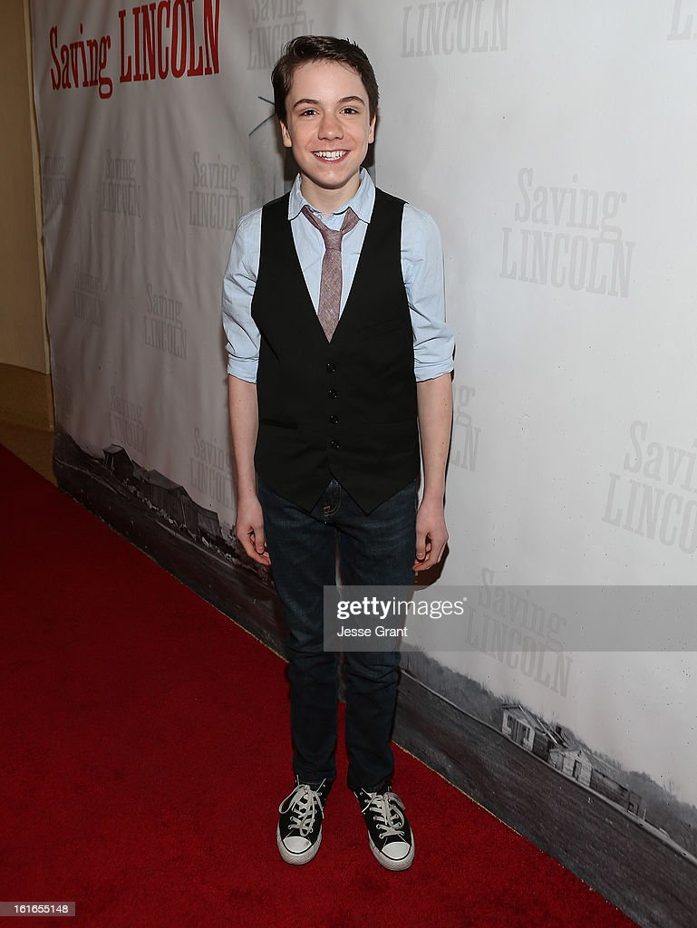 Actor Elijah Nelson attends the Pictures From The Fringe World Premiere of 'Saving Lincoln' at The Alex Theatre on February 13, 2013 in Glendale, California.