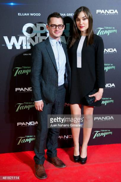 Actor Elijah Wood and actress Sasha Grey attend the 'Open Windows' premiere at Capitol Cinema on June 30 2014 in Madrid Spain