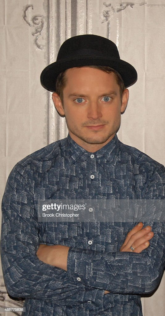 Actor Elijah Wood and Director Leigh Whannell at AOL Studios In New York on September 17 2015 in New York CityÊ