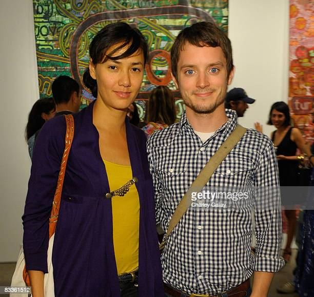 Actor Elijah Wood and Pam Racine attend The Gregory Parkinson Spring Summer 2009 Cocktail Event Presented by TheFindcom and Glam Media at Honor...