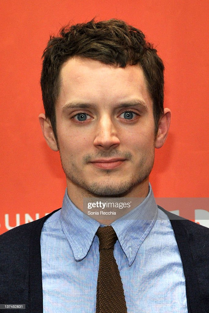 Actor Elijah Wood arrives at 'Celeste And Jesse Forever' at the Eccles Center Theatre during the 2012 Sundance Film Festival on January 20 2012 in...