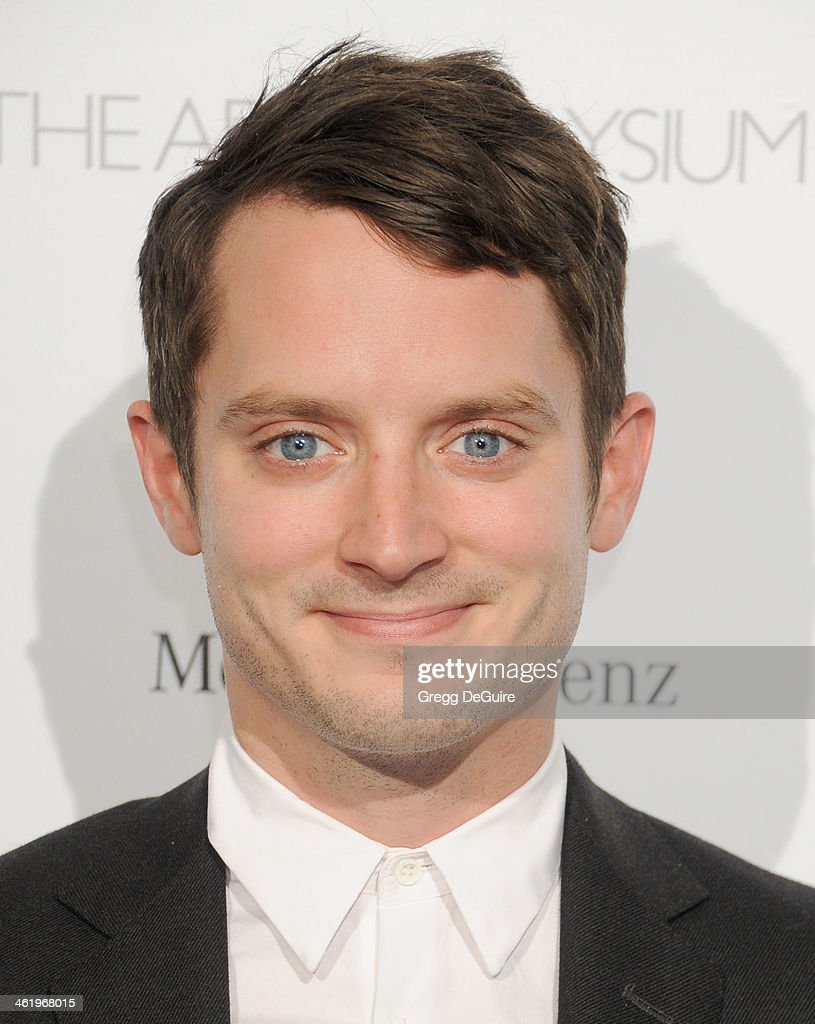 Actor Elijah Wood arrives at The Art of Elysium's 7th Annual HEAVEN Gala at the Guerin Pavilion at the Skirball Cultural Center on January 11, 2014 in Los Angeles, California.