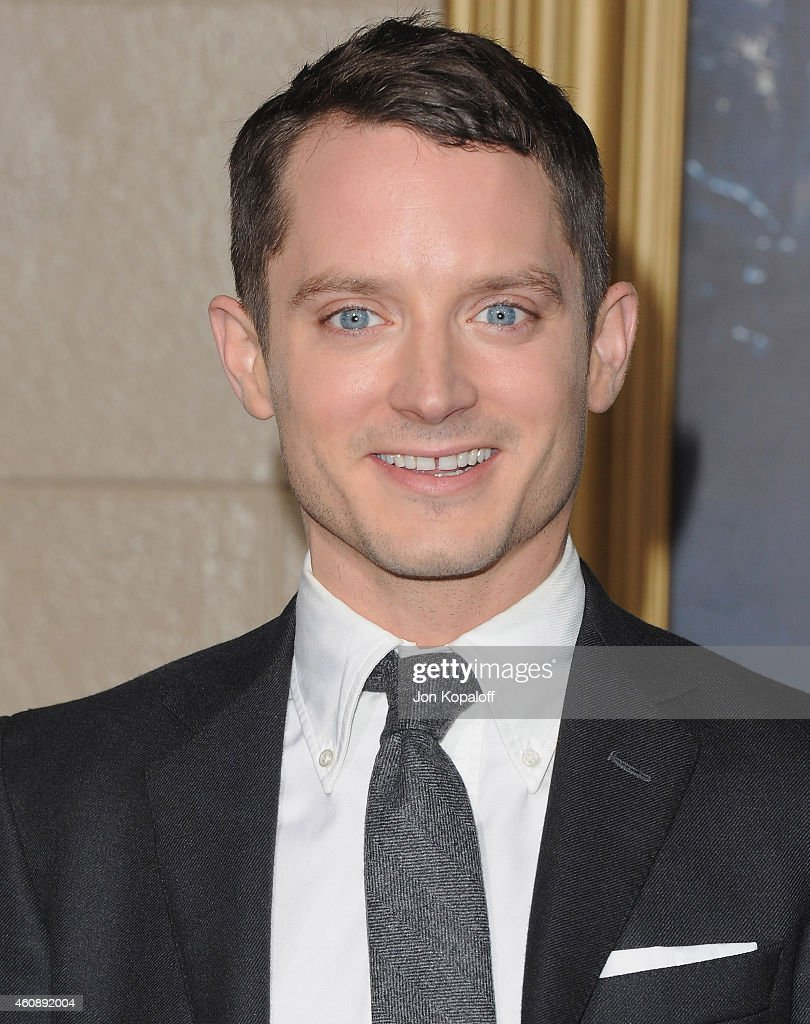 Actor Elijah Wood arrives at the Los Angeles Premiere 'The Hobbit The Battle Of The Five Armies' at Dolby Theatre on December 9 2014 in Hollywood...