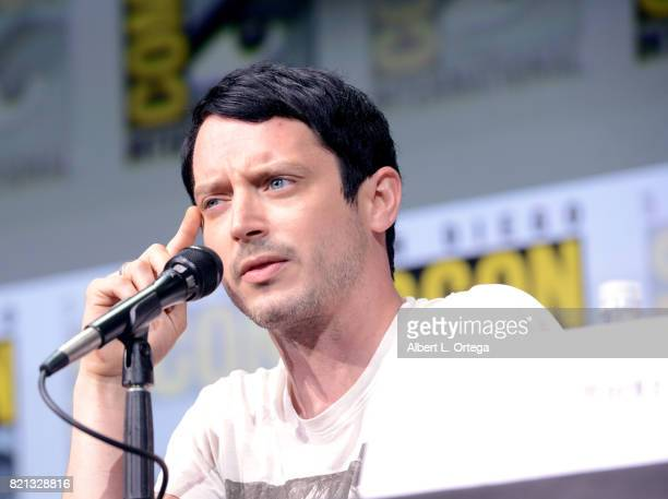 Actor Elijah Wood at Dirk Gently's Holistic Detective Agency BBC America Official Panel during ComicCon International 2017 at San Diego Convention...